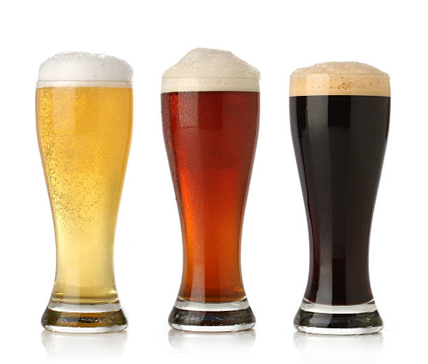 Three cold beer  beer glass stock pictures, royalty-free photos & images