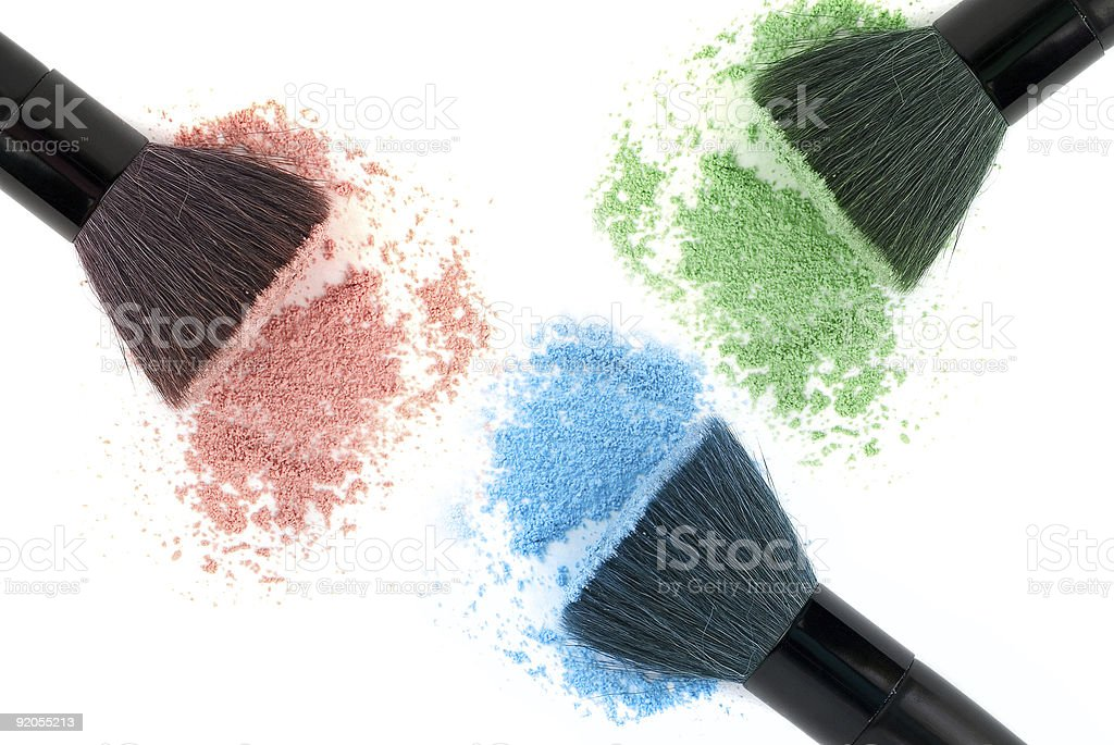 Three color powder royalty-free stock photo