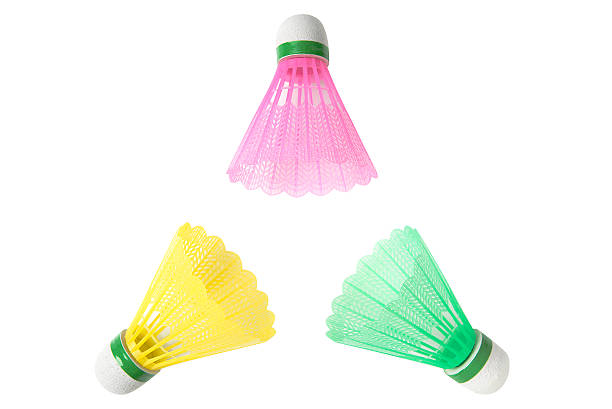 Three color shuttlecocks for playing badminton - Photo