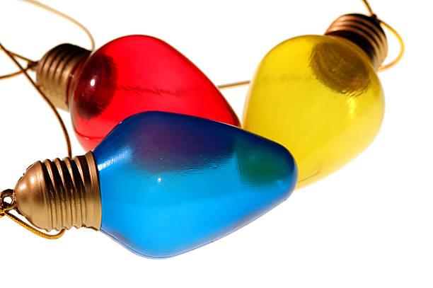 Three Colorful Bulbs stock photo