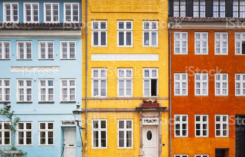 Three Colors House Front royalty-free stock photo