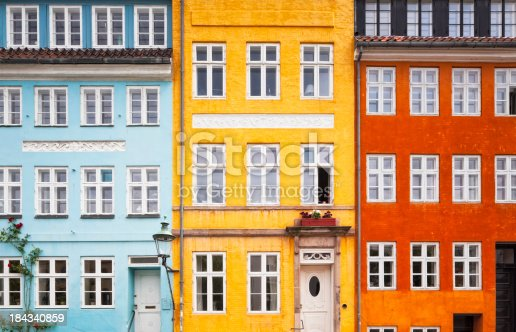 istock Three Colors House Front 184340859