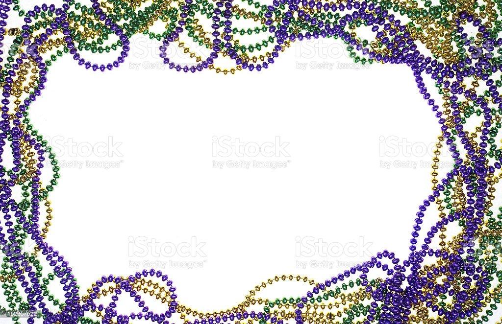 Three colors of beads stock photo