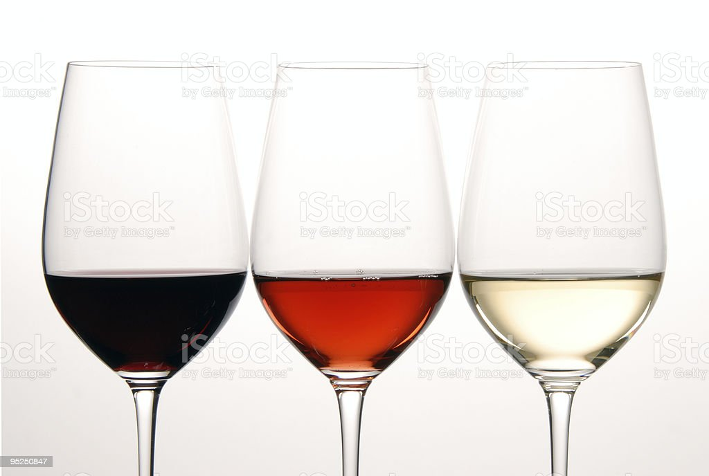 Three Colors of Wine royalty-free stock photo