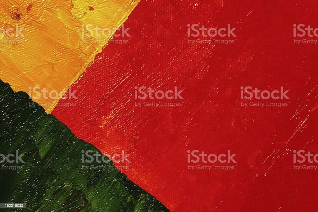 Three colors on canvas royalty-free stock photo