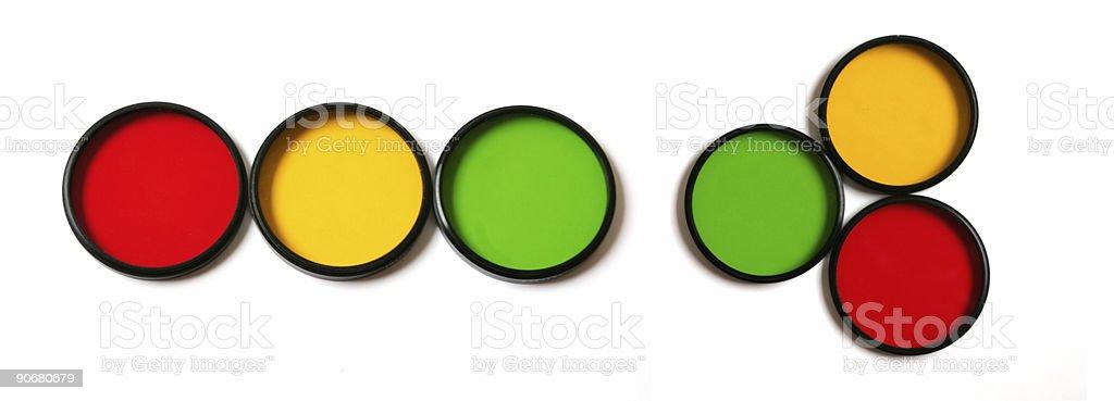 Three colors stock photo