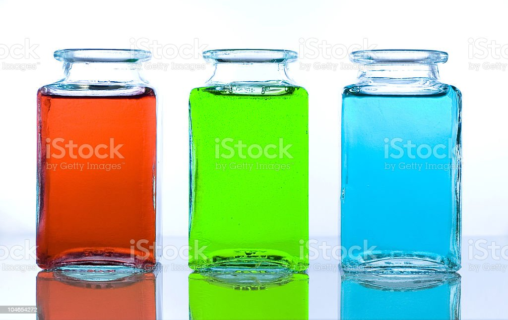 Three colours - red, green, blue royalty-free stock photo
