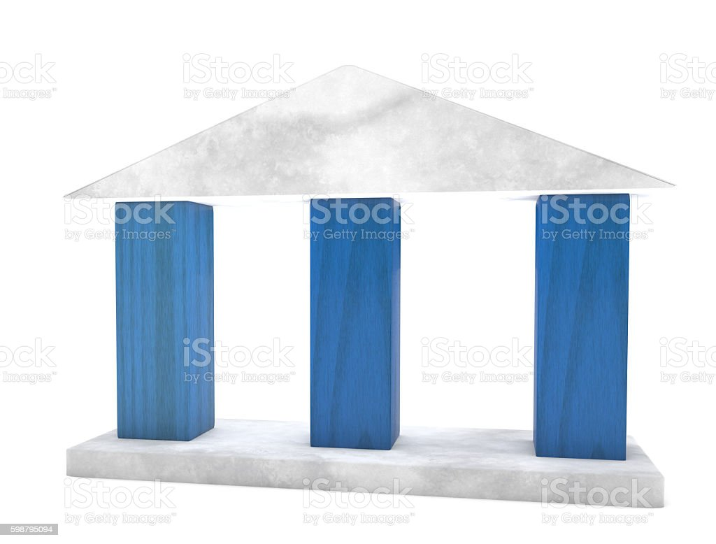 three columns stock photo