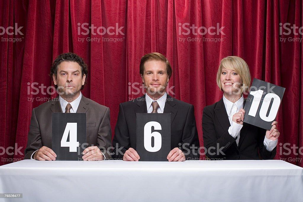 Three competition judges 免版稅 stock photo