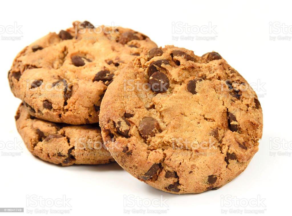 three cookies stock photo