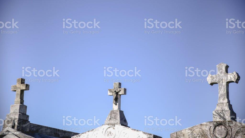 Three Crosses, Crucifix, Copy Space, Sky