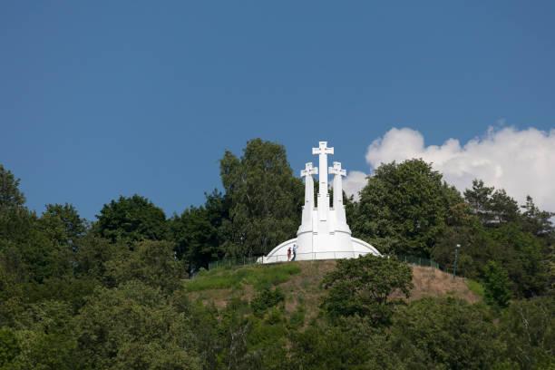 Three Crosses in Vilnius stock photo