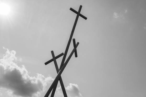 Three Crosses stock photo