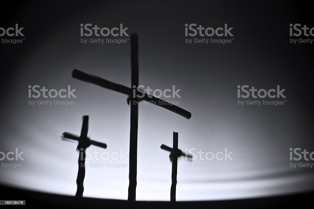 Three crosses royalty-free stock photo
