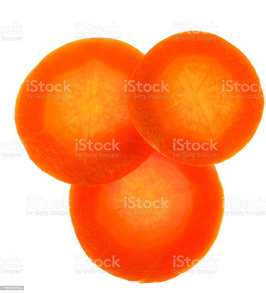 Three cup carrots royalty-free stock photo