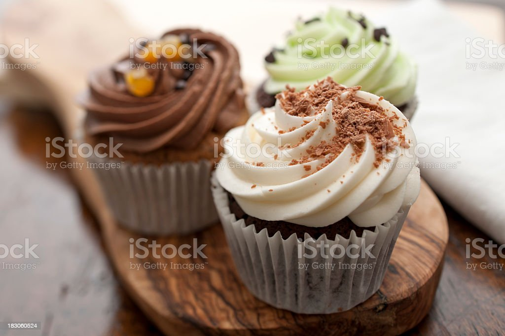 Three Cupcakes stock photo
