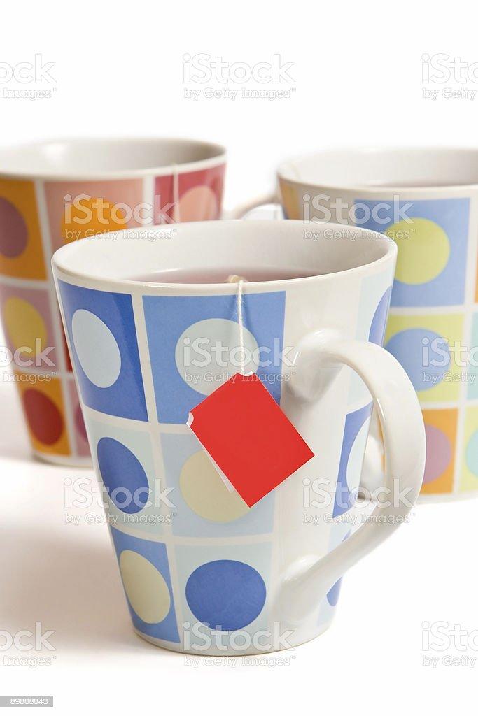 Three cups royalty-free stock photo