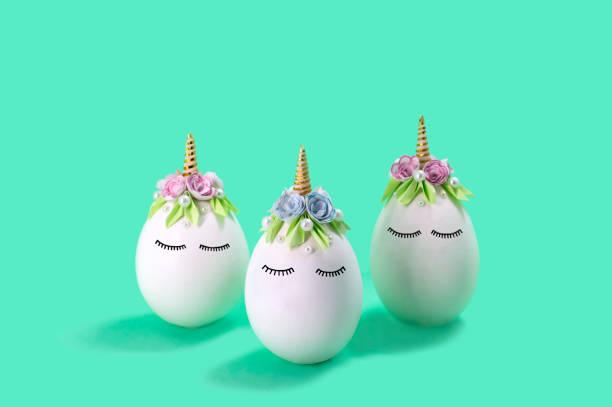 Three cute handmade unicorns made of eggs easter concept picture id1127072312?b=1&k=6&m=1127072312&s=612x612&w=0&h=7eisjwdh2vn6tu7tdi0lkwqbrswvkgqf82bvp2bl jm=
