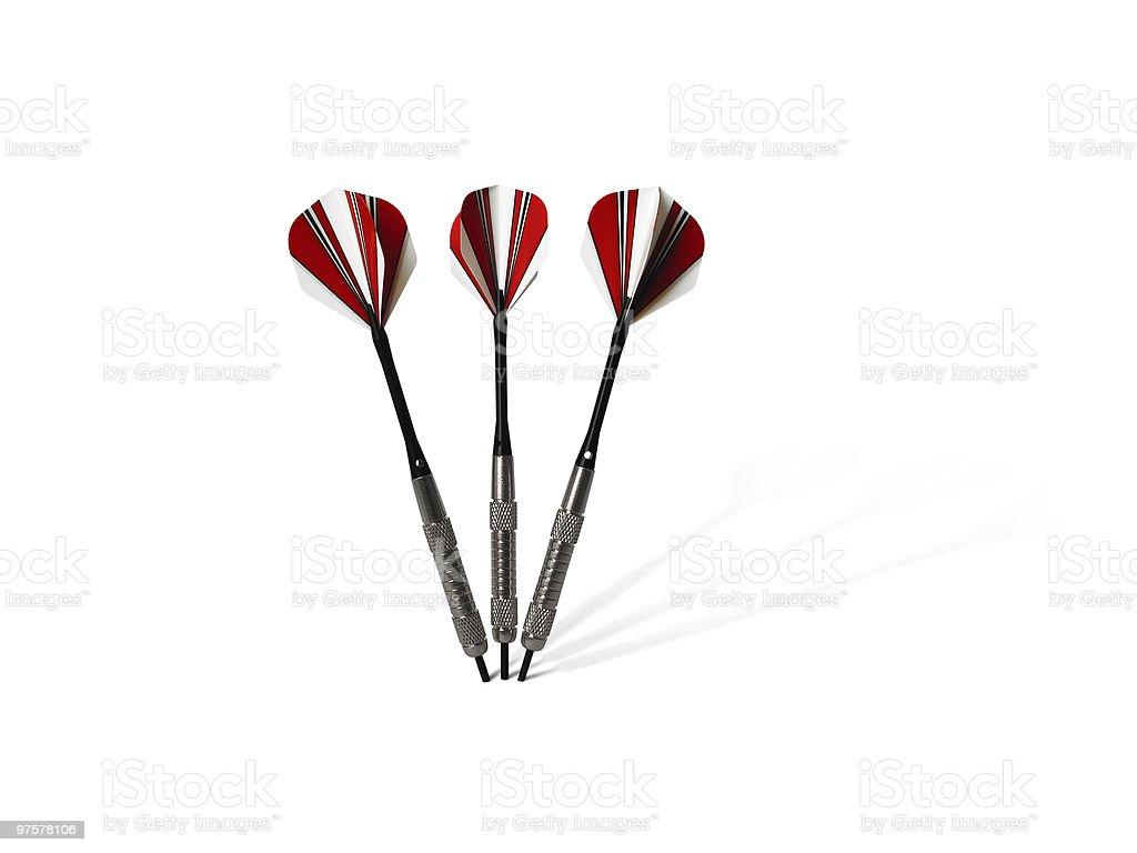three dart royalty-free stock photo