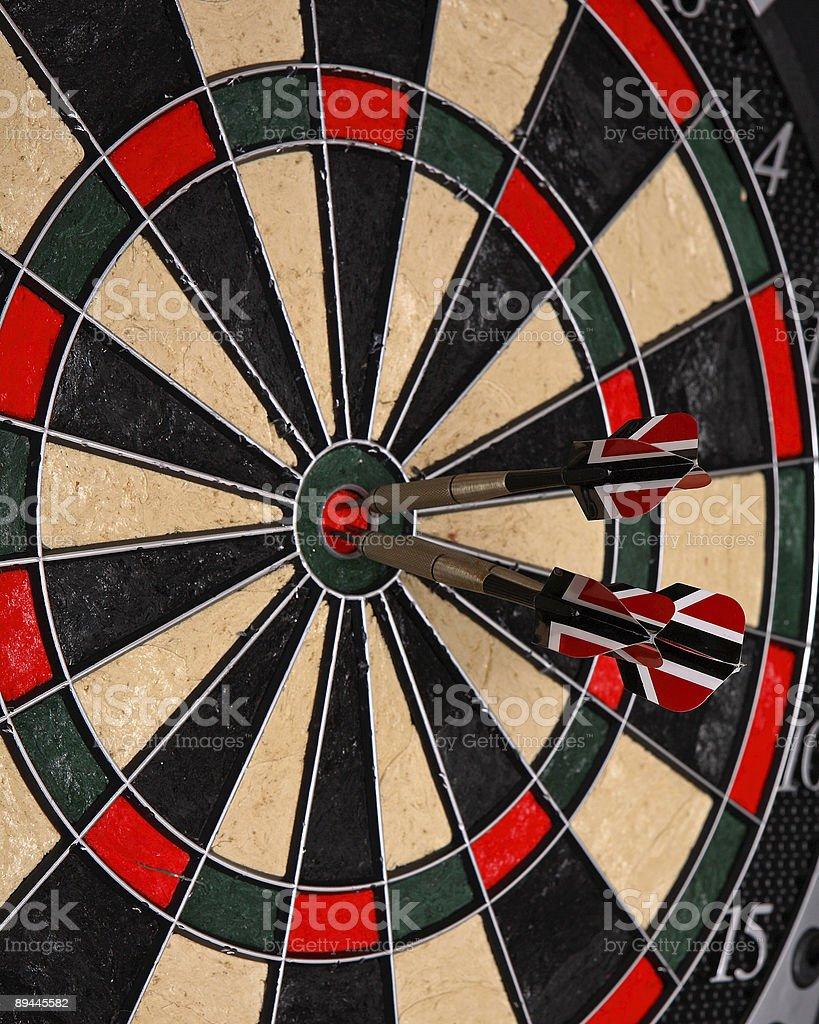 Three darts royalty-free stock photo