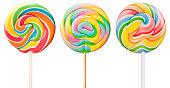 Three delicious lollipops!