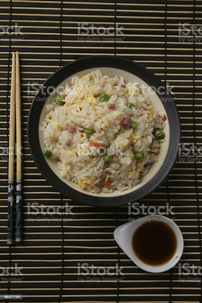 three delights chinese rice dinner royalty-free stock photo