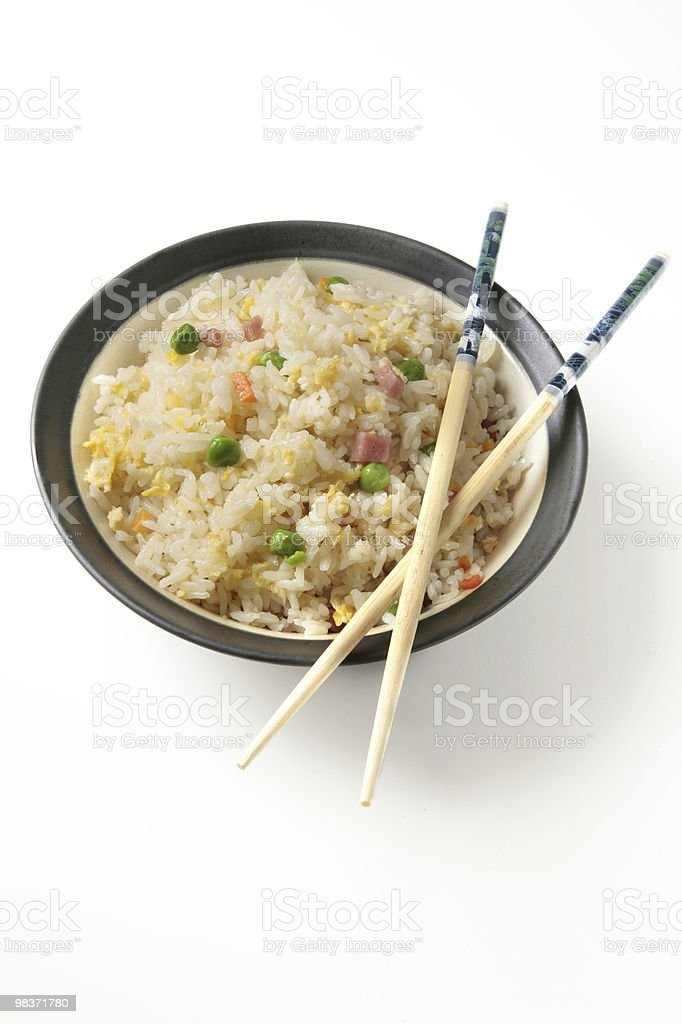 three delights chinese rice royalty-free stock photo