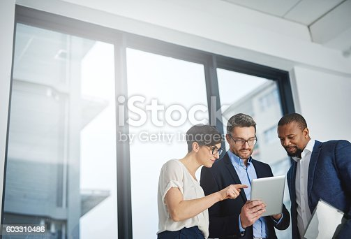 istock Three departments working towards one goal 603310486