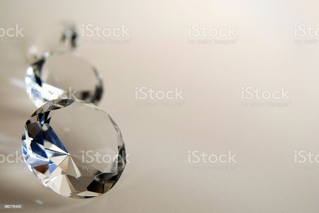 Three diamonds on a row with space to add texte royalty-free stock photo