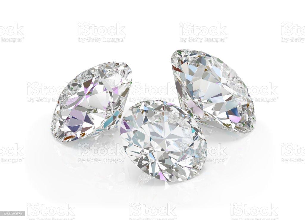 Three diamonds royalty-free stock photo