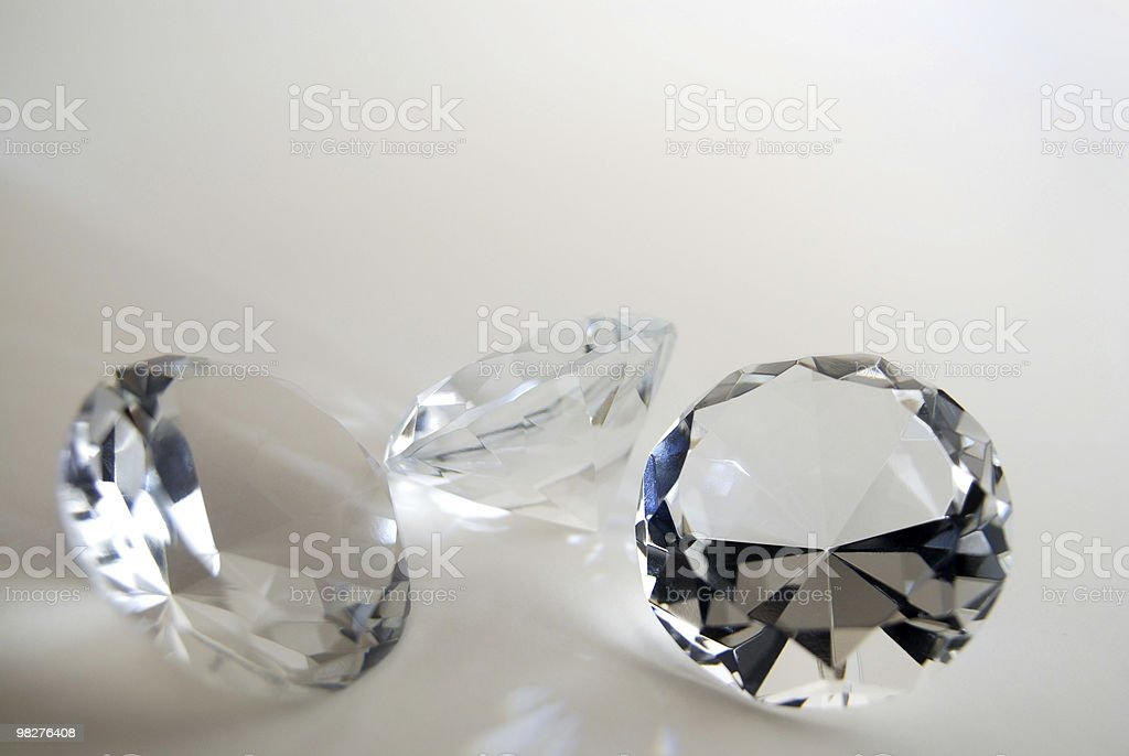 three diamonds royalty-free stock photo