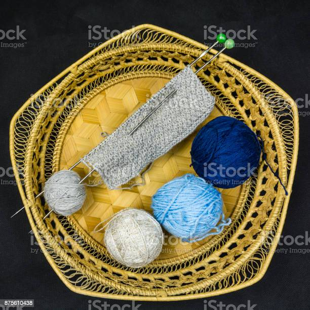 Three different colored balls of wool and the start of knitwork in picture id875610438?b=1&k=6&m=875610438&s=612x612&h=zy6g3eyk8kxtkporqimpzdpw2dhb2uystyt9j wdxzw=