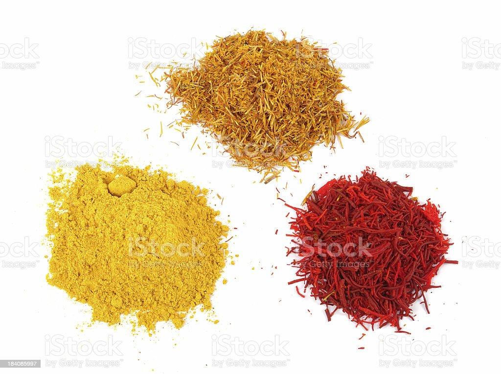 Three different saffrones stock photo