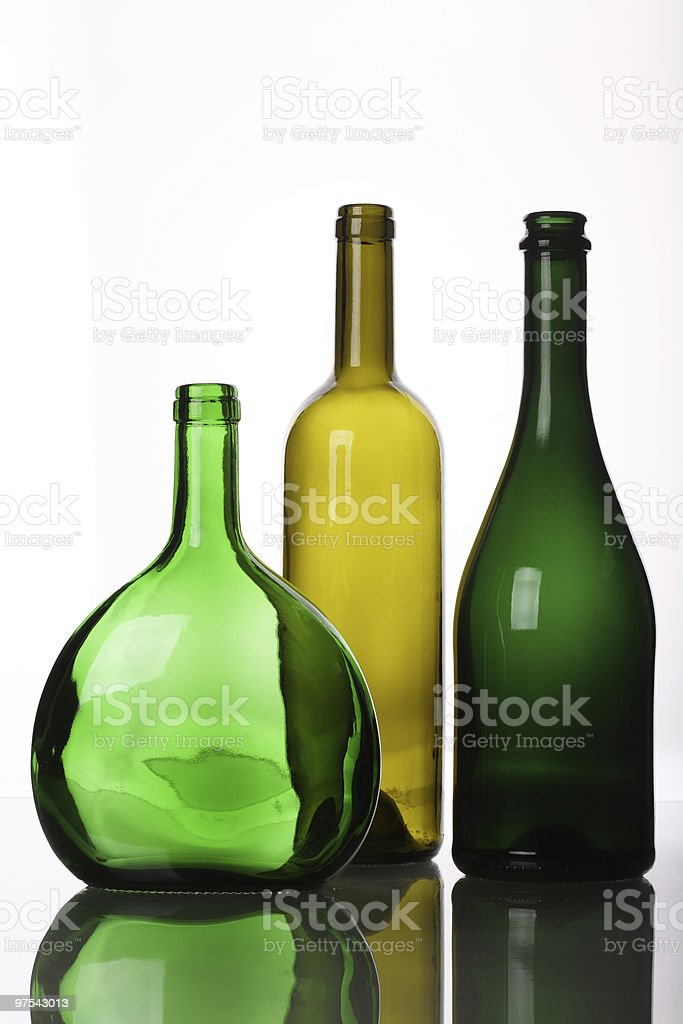 Three different Wine Bottles royalty-free stock photo
