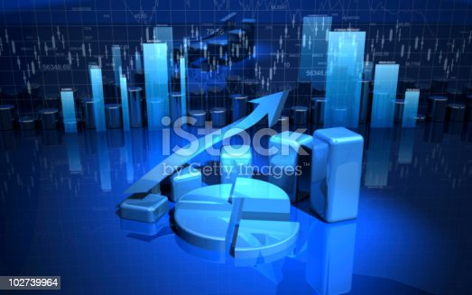 istock Three dimension graph and charting options 102739964