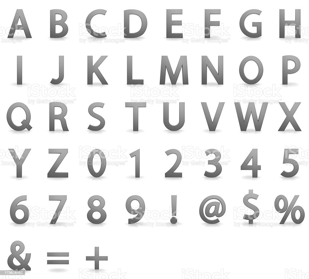 Three Dimensional Alphabet royalty-free stock photo
