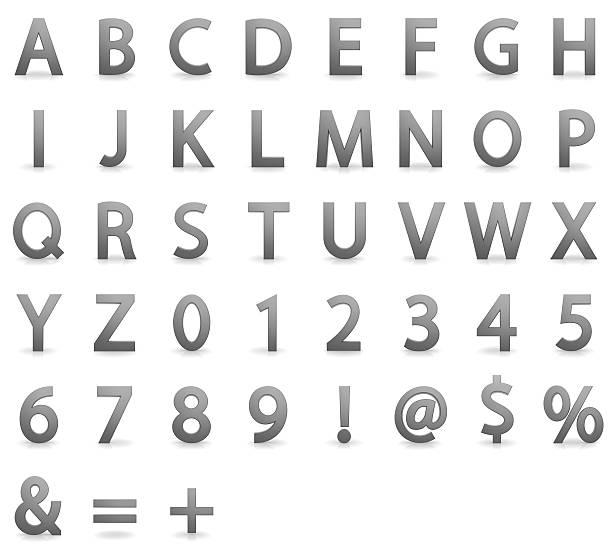 three dimensional alphabet - ruth 個照片及圖片檔
