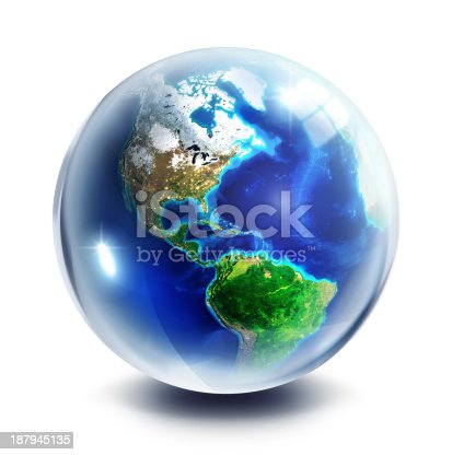 istock Three Dimensional ball: focus on America 187945135