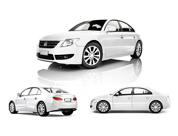 Three Dimensional Image of a White Car Three Dimensional Image of a White Car***NOTE TO INSPECTOR**These cars are our own 3D generic designs. They do not infringe on any copyrighted designs.*** viewpoint stock pictures, royalty-free photos & images