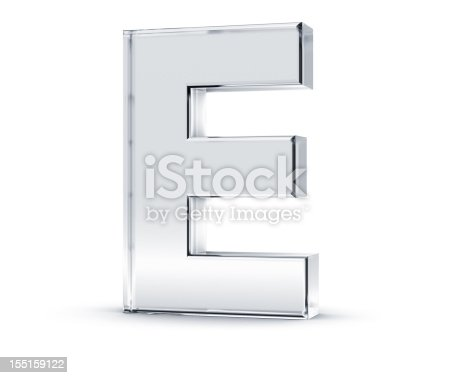 istock Three dimensional letter E on white background 155159122