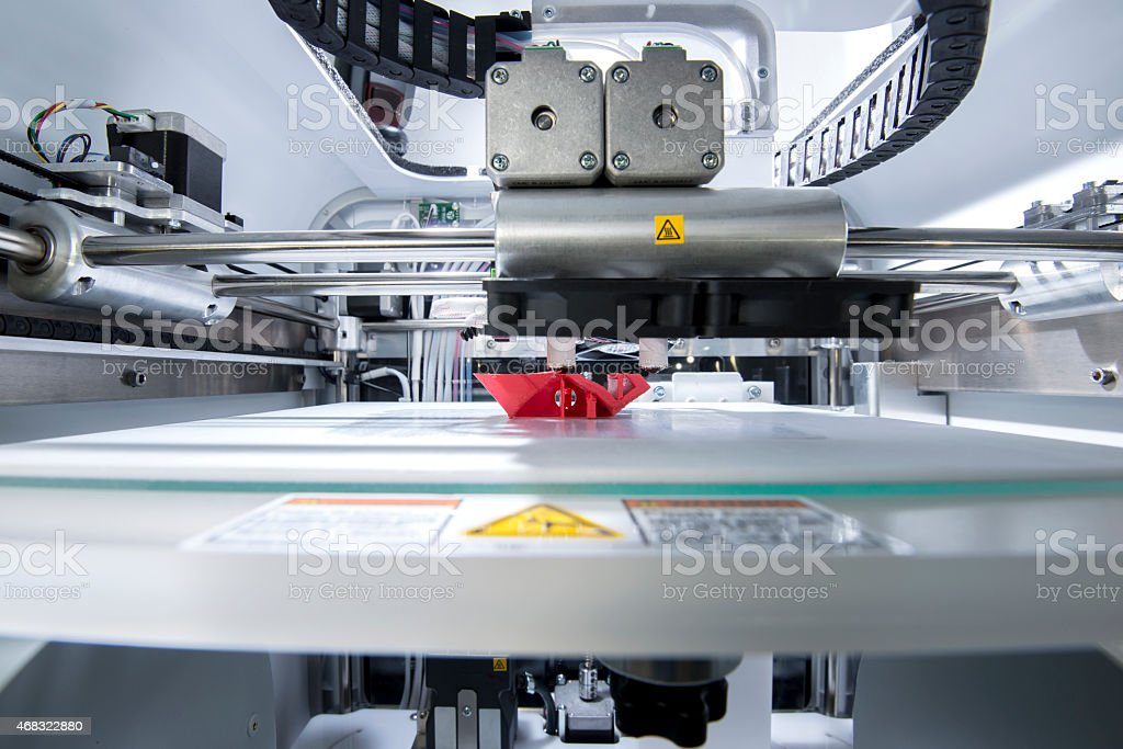 Three dimensional printing machine bildbanksfoto