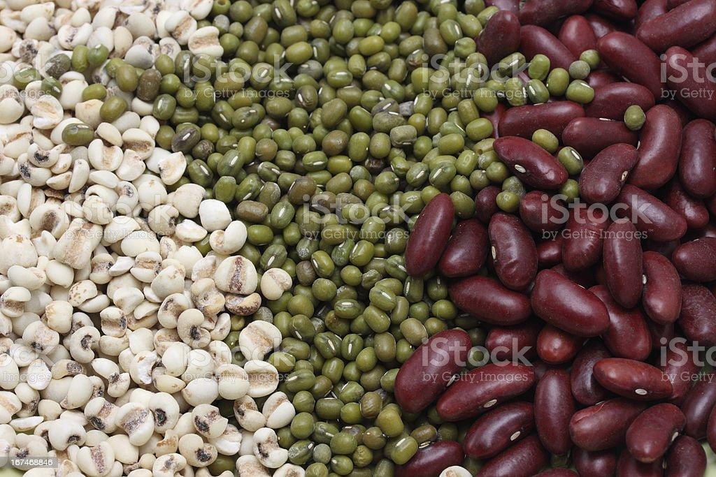 Three dried grains stock photo