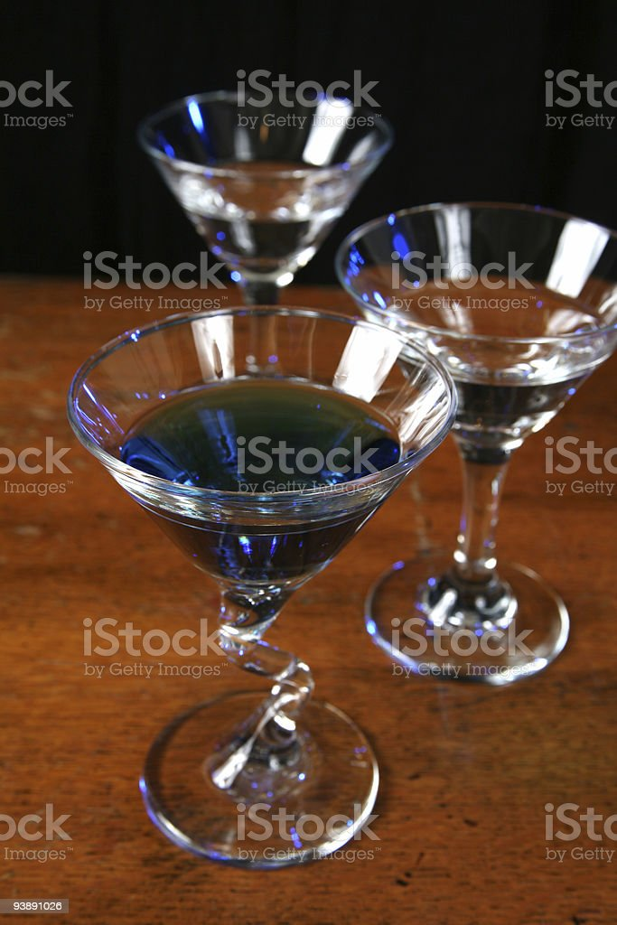 Three drink glasses royalty-free stock photo