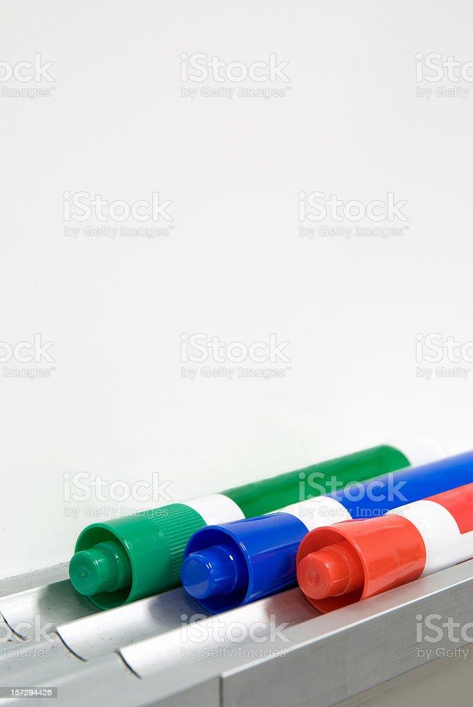 Three Dry Erase Marker stock photo