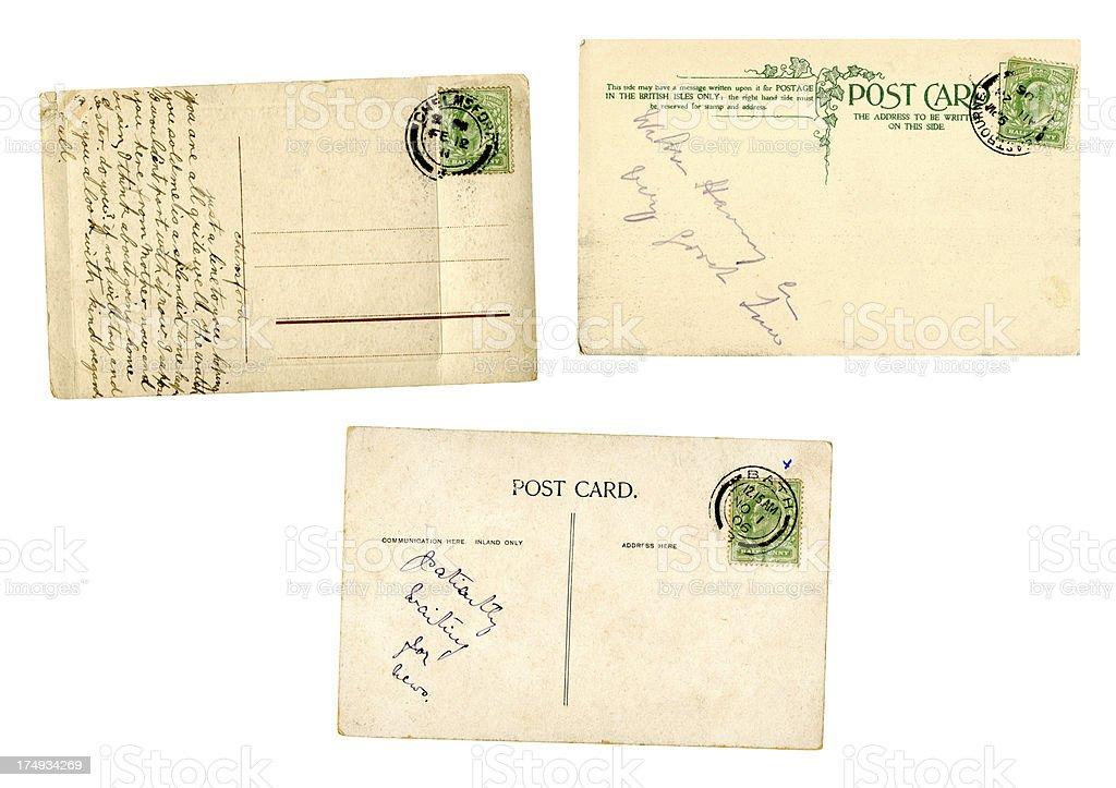 Three Edwardian Postcards Stock Photo - Download Image Now