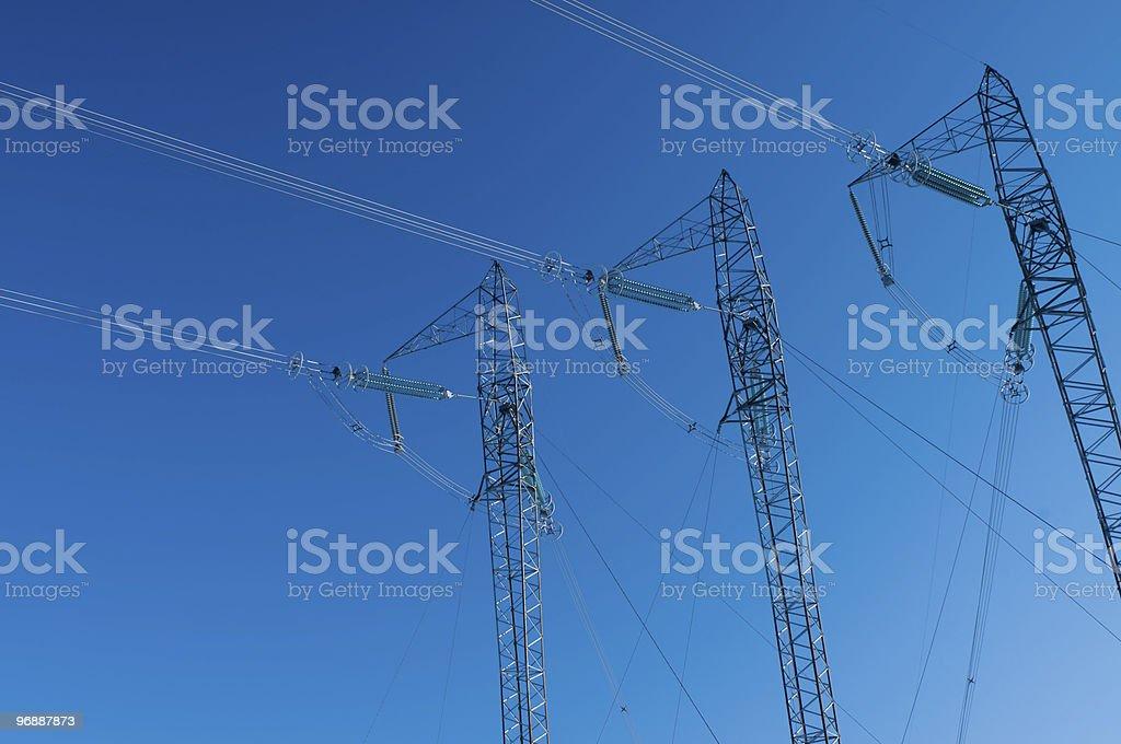 Drei Strommasten Lizenzfreies stock-foto