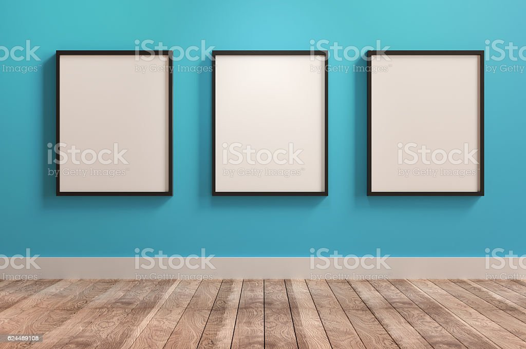 Three Empty Frames Lizenzfreies stock-foto