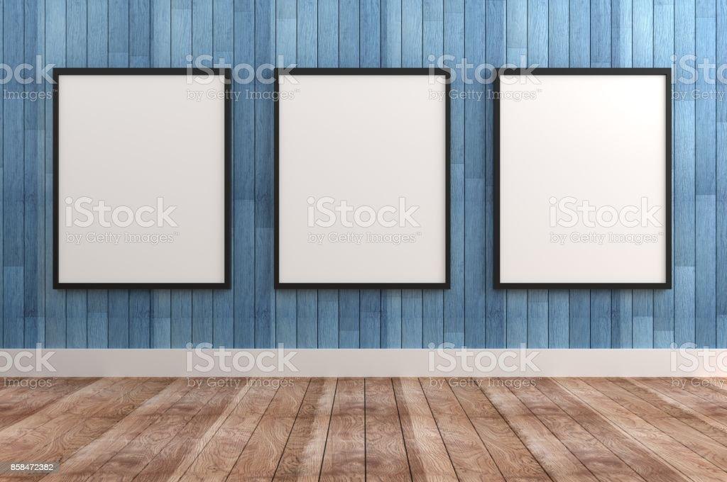 Drei leere Rahmen – Foto