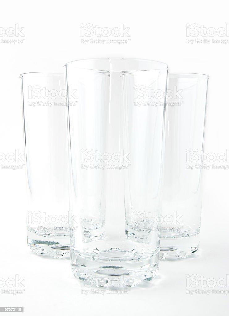 three empty glasses royalty-free stock photo