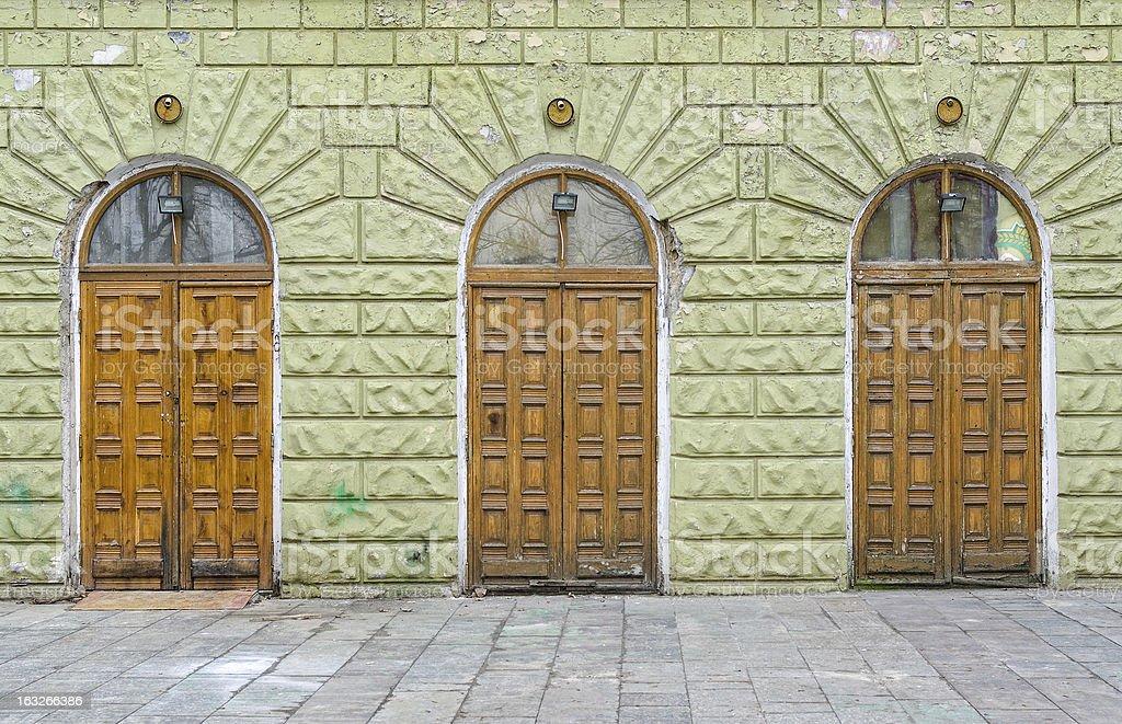 Three entrance royalty-free stock photo